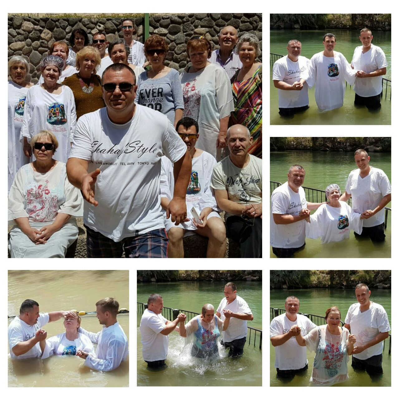Water Baptism service in Netanya congregation